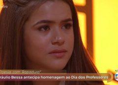 Princesa da TV, Maisa chora com poesia aos professores no 'Encontro'