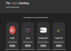 Alguém criou um 'cemitério' com todos os serviços Google que deram errado