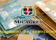 PAGAMENTO DE SERVIDORES – Governo Municipal de Milagres confirma pagamento de funcionalismo público