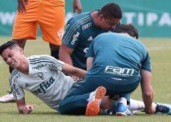 """Diogo Barbosa mira retomada após ano difícil no Palmeiras: """"Não joguei sem tomar injeção"""""""