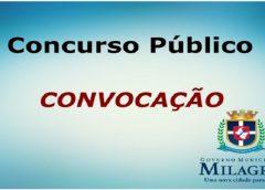 4ª Convocação: Governo de Milagres convoca aprovados em concurso público para entrega de documentos e avaliação médica