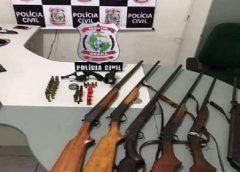 Operação da polícia apreende sete armas em Jucás, no interior do Ceará
