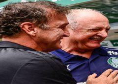Rivais em São Paulo x Palmeiras, Cuca e Felipão mantêm amizade e já trabalharam juntos no Grêmio