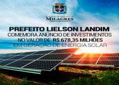 Prefeito Lielson Landim comemora anúncio de investimentos em geração de energia solar