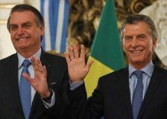 Bolsonaro quer Macri reeleito e mais acordos para o Mercosul