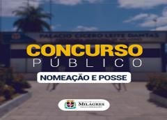 Governo de Milagres convoca aprovados em concurso para nomeação e posse