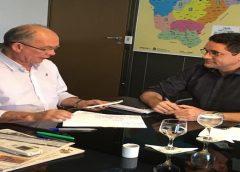 """""""Apoio do Governador Camilo Santana tem sido vital para destravar as obras em Milagres"""", diz Prefeito Lielson Landim"""