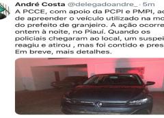 Veículo usado no assassinato do prefeito de Granjeiro é apreendido no Piauí, diz André Costa
