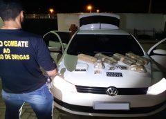 Pai transporta droga escondida em carro com filho de três anos e acaba preso no interior do Ceará