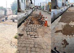 INFRAESTRUTURA – Prefeitura Municipal de Milagres inicia serviços de recuperação de ruas pavimentadas