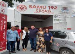 28 DE FEVEREIRO – Prefeito Lielson Landim inaugura Base do SAMU em Milagres