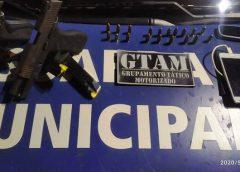 Operações preventivas da Guarda Municipal de Fortaleza apreendem armas
