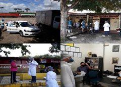 Equipe da UBS do Distrito do Fronteiro realiza trabalho de distribuição de máscaras a população