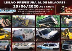 Prefeitura Municipal de Milagres realiza leilão de bens inservíveis