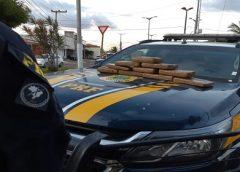 Três homens são detidos pela PRF transportando 10 kg de 'supermaconha' no norte do Ceará