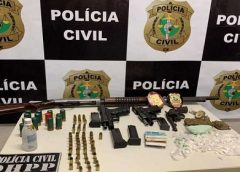 Cinco são presos em Fortaleza com armas de fogo, drogas e munições