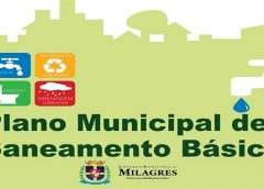 13 DE AGOSTO Audiência Pública vai debater Plano Municipal de Saneamento Básico de Milagres