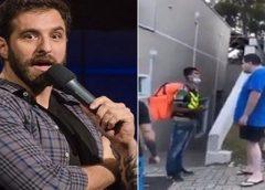 Rafinha Bastos sugere condenação a homem que humilhou entregador
