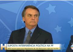 Marco Aurélio envia a plenário virtual recurso de Bolsonaro para prestar depoimento por escrito