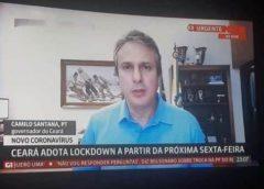 Fake News mostra imagem antiga de Camilo Santana anunciando lockwown
