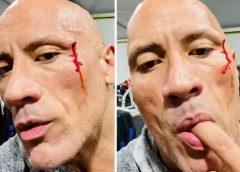'The Rock' prova do próprio sangue após acidente em academia