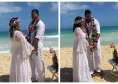 Xanddy e Carla Perez renovam votos de casamento no Havaí