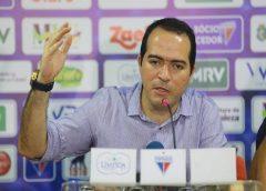 Marcelo Paz contesta 'Cenidependência' do Fortaleza: 'temos que ter amor próprio'