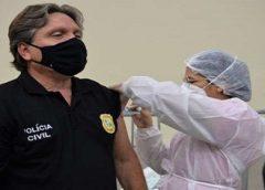Profissionais da Segurança Pública são vacinados contra a Covid-19 no Ceará