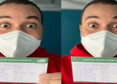 Imunizado, Braseeel! Gil do Vigor é vacinado contra Covid-19: 'Feliz'
