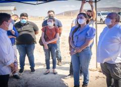 Comitiva do Consórcio CORES – Cariri Oriental visita a central municipal de resíduos sólidos de Saboeiro