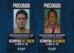 Governo do Ceará renova valores e informações de 14 foragidos incluídos no Programa de Recompensa