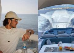 Filho de Faustão curte Ibiza e mostra passeio em iate de luxo