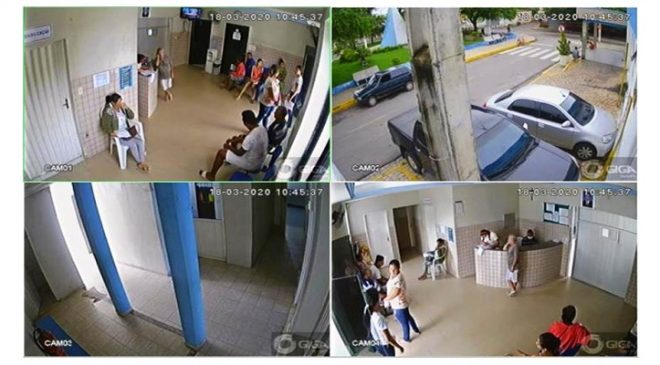 SEGURANÇA PÚBLICA – Hospital Municipal e Secretaria de Saúde de Milagres recebem câmeras de monitoramento