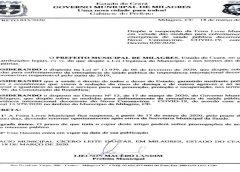 MEDIDA DE SEGURANÇA – Feira livre municipal de Milagres é suspensa por 15 dias