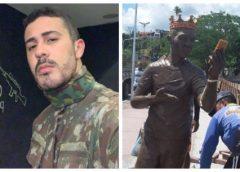 Carlinhos Maia ganha estátua, mas população impede instalação