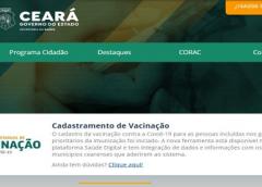 Site de cadastro para vacinação contra a Covid-19 no Ceará volta a operar normalmente
